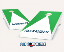 """Personalized Pyramid"" Cornhole Set"