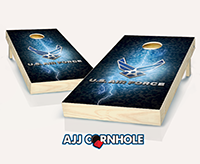 """US Air Force Lightning"" Cornhole Set"
