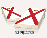 """Alabama Flag"" Cornhole Set"