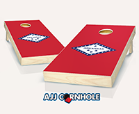 """Arkansas Flag"" Cornhole Set"