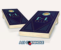 """Art Deco Wedding"" Cornhole Set"