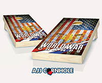 """Back to Back World War Champs"" Cornhole Set"