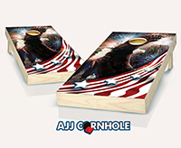 """Bald Eagle Fireworks"" Cornhole Set"