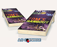 """Blacklight Hangout"" Cornhole Set"