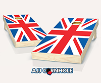 """British Flag"" Cornhole Set"