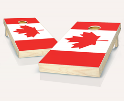 """Canadian Flag"" Cornhole Set"