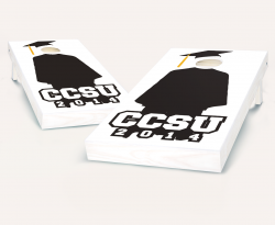"""Cap & Gown Graduation"" Cornhole Set"