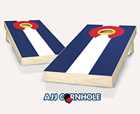 """Colorado Flag"" Cornhole Set"