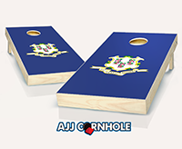 """Connecticut Flag"" Cornhole Set"