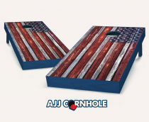 """Country Rustic American Flag"" Cornhole Set"