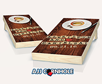 """Couples Wordgame Wedding"" Cornhole Set"