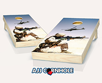 """Desert Warfare"" Cornhole Set"