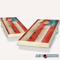 Cornhole Boards BEANBAG TOSS GAME w Bags Patriotic US American Eagle Flag 224
