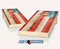 """Distressed American Flag"" Cornhole Set"