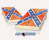 """Distressed Confederate Flag"" Cornhole Set"