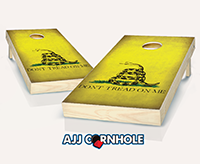 """Distressed Gadsden Flag"" Cornhole Set"