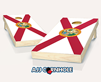 """Florida Flag"" Cornhole Set"