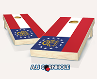 """Georgia Flag"" Cornhole Set"