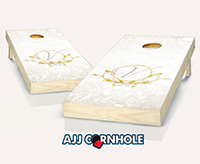 """Wedding Gold Leaf"" Cornhole Set"