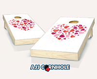 """Heart Heart"" Cornhole Set"
