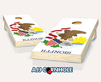 """Illinois Flag"" Cornhole Set"