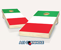 """Italian Flag"" Cornhole Set"