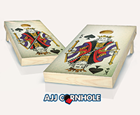 """King of Spades"" Cornhole Set"