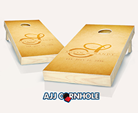"""Wedding Letter Rustic"" Cornhole Set"