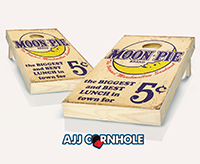 """Moonpie Sign"" Cornhole Set"