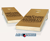 """Wedding Mr and Mrs"" Cornhole Set"