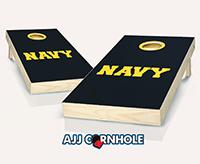 """US Navy Text"" Cornhole Set"