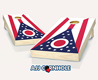 """Ohio Flag"" Cornhole Set"
