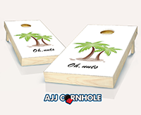 """Personalized Palm Tree"" Cornhole Set"