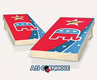 """Republican"" Cornhole Set"