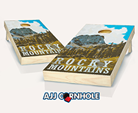 """Rocky Mountains"" Cornhole Set"