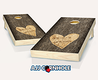 """Wedding Tree Carved"" Cornhole Set"