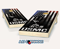 """USMC Hanging Stripes"" Cornhole Set"