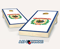 """West Virginia Flag"" Cornhole Set"