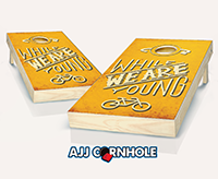 """While We Are Young"" Cornhole Set"