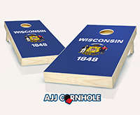 """Wisconsin Flag"" Cornhole Set"