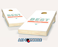 """The Best Day Ever Wedding"" Cornhole Set"