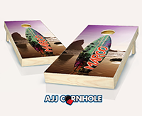 """Surfboard Sunset"" Cornhole Set"