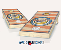 """Striped Moonpie"" Cornhole Set"