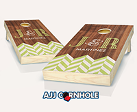 """Wedding Chevron"" Cornhole Set"