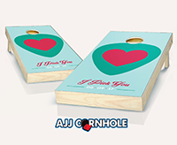 """Guitar Pick Wedding"" Cornhole Set"