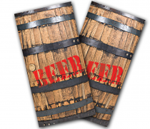 """Beer Barrel"" Cornhole Wrap"