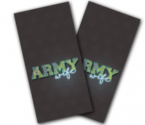 """Army Wife"" Cornhole Wrap"