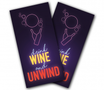 """Drink Wine and Unwind"" Cornhole Wrap"