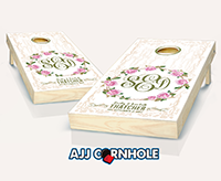 """Fairytale Monogram"" Cornhole Set"