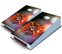 """Fire Badge"" Tabletop Cornhole Set"